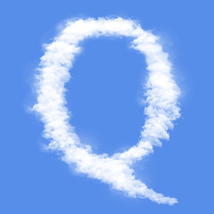Clouds in shape of the letter Q