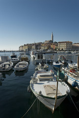 View at the croatian city Rovinj (Rovigno)