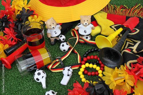 Leinwanddruck Bild Fussballfanartikel Deutschland