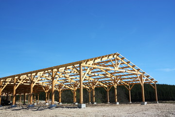 Agricultural Barn Under Construction