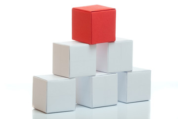 Pyramid from boxes