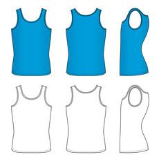 Outline blue vest vector illustration