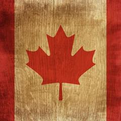 wood flag of Canada