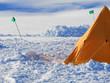 Leinwanddruck Bild - Ice camp