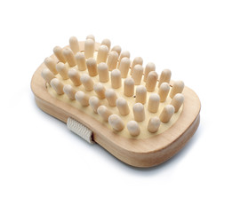 wooden massager isolated