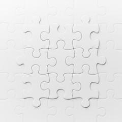 白いジグソーパズルの象徴