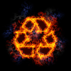 Fiery Recycling symbol.