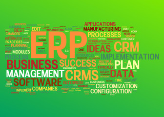 ERP and Customer Relationship Marketing concepts