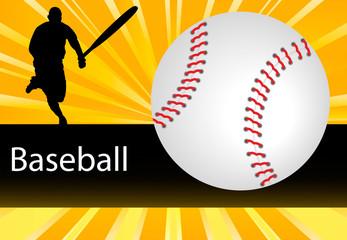 Vector Baseball Player background burst