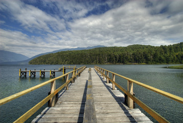 pontile lake Lacar (lake district - argentina)