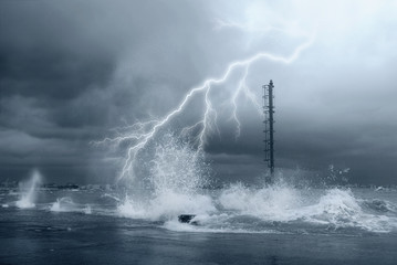 lightning on the big waves