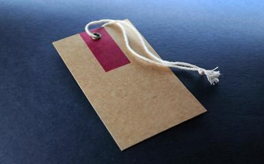 cardboard label tag