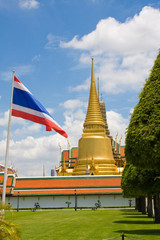 The temple in the Grand palace area  in Bangkok, Thailand