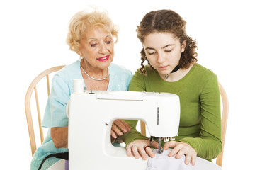 Family Sewing Lesson