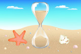 Sand Clock On Seaside