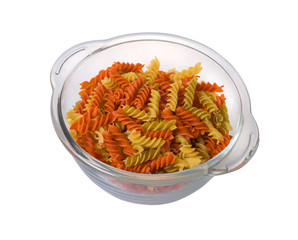 Fusilli, close up.