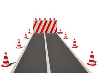 road no way traffic cones 3d cg