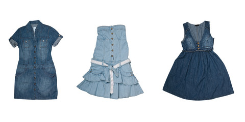 collection of various types of jeans dresses