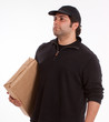 Young Man carrying a parcel