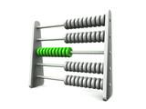 Fototapety 3D Rechenschieber - Silber Grün - freigestellt