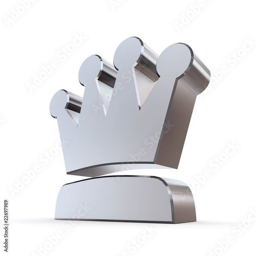 Shiny Peaked Solid Crown