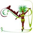 Danseuse de samba -verdure chocolat