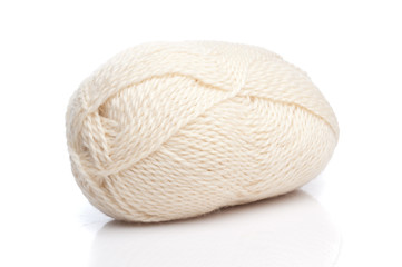 White wool threads