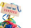 you are invited - invitation card to a party