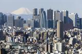富士山と新宿高層ビル街