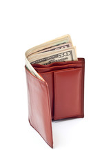 Wallet and dollars