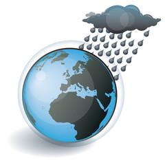 Il pleut sur la Terre, vecteur