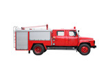 Fire Engine isolated with white background .