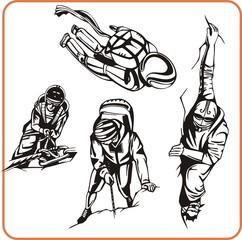 Climber. Extreme sport.