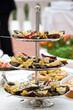 Buffet di antipasti: ostriche