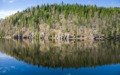 northern spring - forest lake;