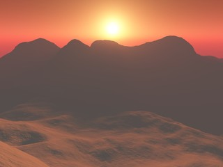 Sonne in Afrika