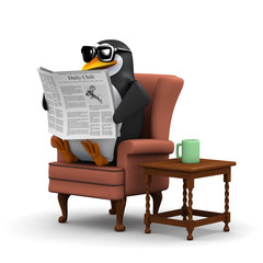 3d Penguin catches up with the news