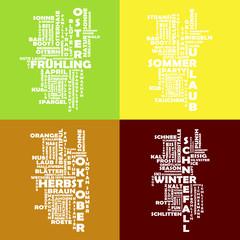 Collage Jahreszeiten