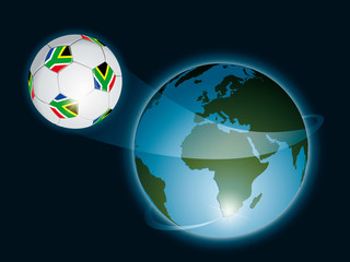 Soccer ball from South Africa