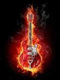 Fototapety Burning guitar