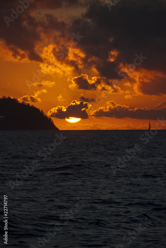 Sunset in the Whitsunday Islands