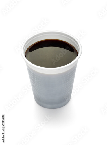 plastic cup of coffee dring beverage food office