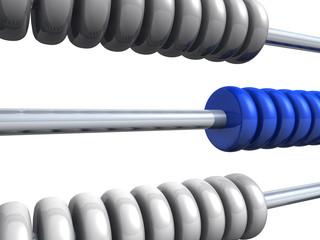 3D Rechenschieber - Silber Blau - freigestellt 02
