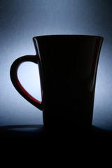 Coffee mug, backlit
