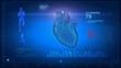 Medical display in loop - heart beat concept