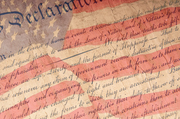 Declaration of Independence Close Up