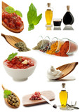 collage of ingredients and condiments-collage di condimenti