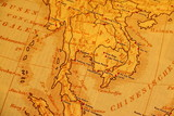 Fototapete Jahrgang - Geschichtlich - Landkarte / Globus