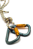 isolated two alpinism carabiners