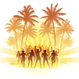 Fototapety Summer disco